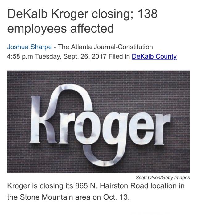 Kroger GA Layoffs