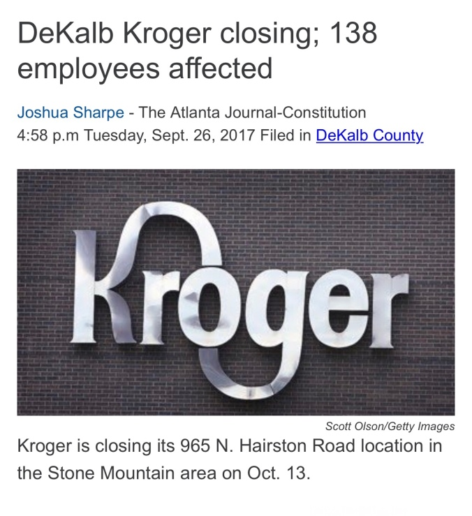 Kroger GA Layoffs